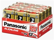 Panasonic 9V Batteries - Pack of 12