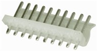 2 Pin 0.156 Straight Locking Header with crimp pins - 3.96 pitch