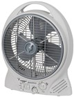"Rechargeble 10"" Electric Fan with Radio and MP3 Player"