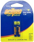 AAAA Alkaline - Eclipse Batteries - Pk. 2