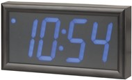 LED Wall Clock with Calendar and Temperature Display