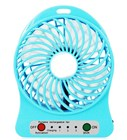 Mini USB Rechargeable Fan with LED Light - Blue
