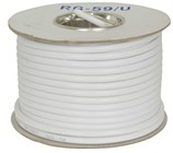 75 Ohm RG59 Gas Injected Foam Coax - White (30m Roll)