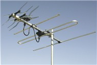 Digimatch VHF/UHF X-type Colinear 16 Element Receives Band 3, 4, and 5 (CHannel 6-12 and 28-69)