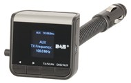 In Car DAB+ Receiver with FM Transmitter