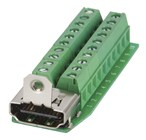 SKT HDMI PNL MNT SCREW TYPE TERMINALS